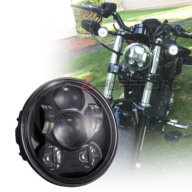 runde schwarz 5 75 zoll motorrad led scheinwerfer lampe 5. Black Bedroom Furniture Sets. Home Design Ideas