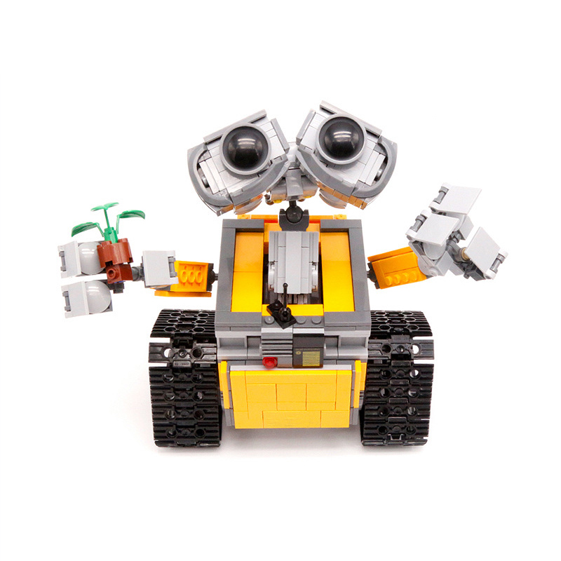 Lepin 16003 Idea Robot WALL E Building Set Educational Bricks Blocks Toys Brinquedos 21303 for Children DIY Gifts Legoedly Toys new lepin 16003 idea robot wall e 21303 building kits bricks blocks bringuedos the fire 70615 03073 toys for children military