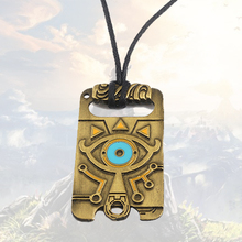 1PC NS Game The Legend of Zeldan Breath the Wild Necklace Anime Chocker Big Eyes Vintage Metal Pendant Charms Gifts