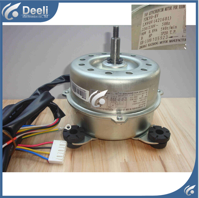 95% new good working for air conditioner inner machine motor LN90V YDK90-8V Motor fan 99% new used brand new smt yamaha feeder ft 8 2mm feeder used in pick and place machine