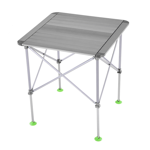 Height Adjustable Folding Table Outdoor Portable Aluminum Camping Table  Desk Furniture Foldable Picnic Table With Carry