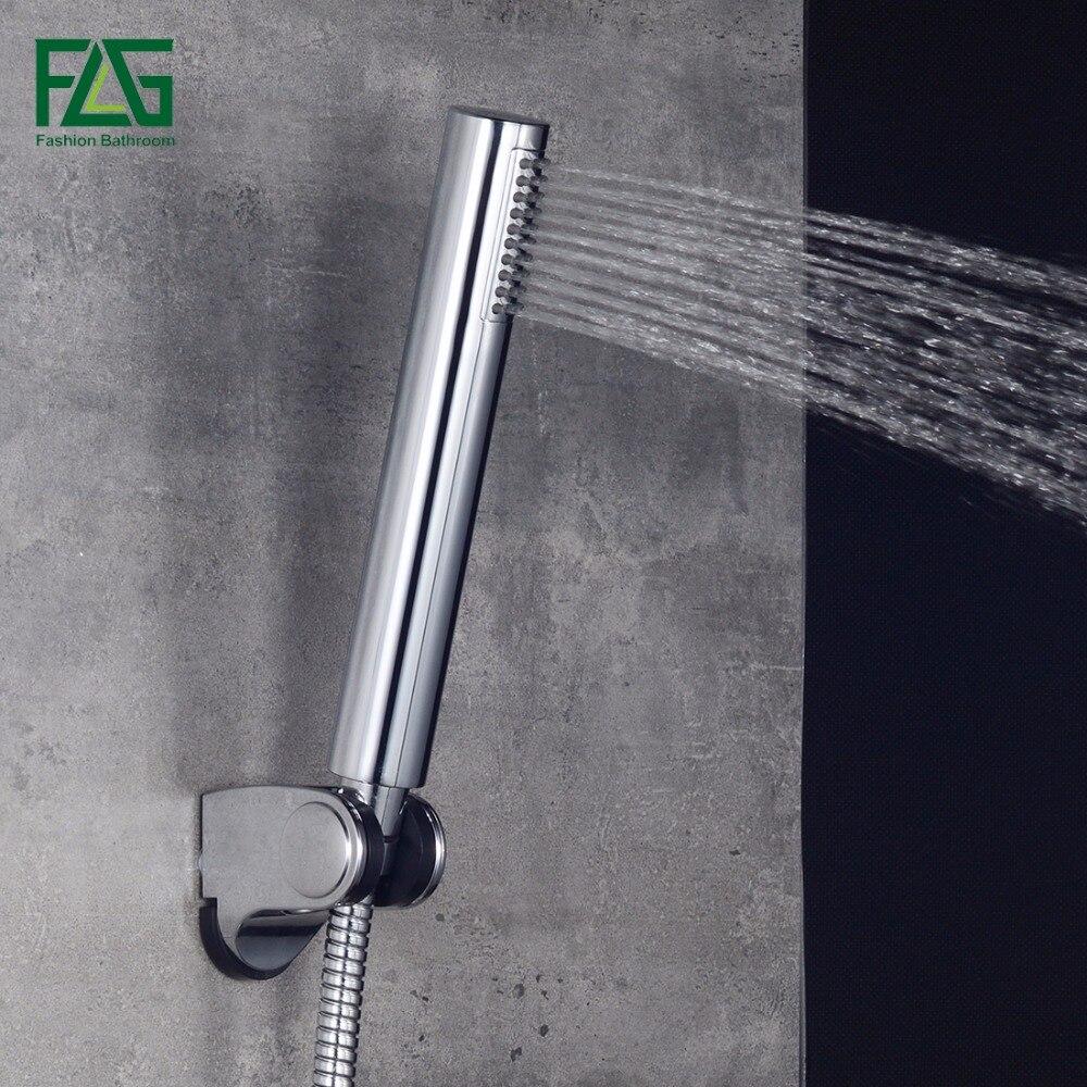 FLG Water Saving Shower Head ABS With Bathroom Shower Head Hand Rainfall Round Head Showers Bathroom Handheld Showerheads