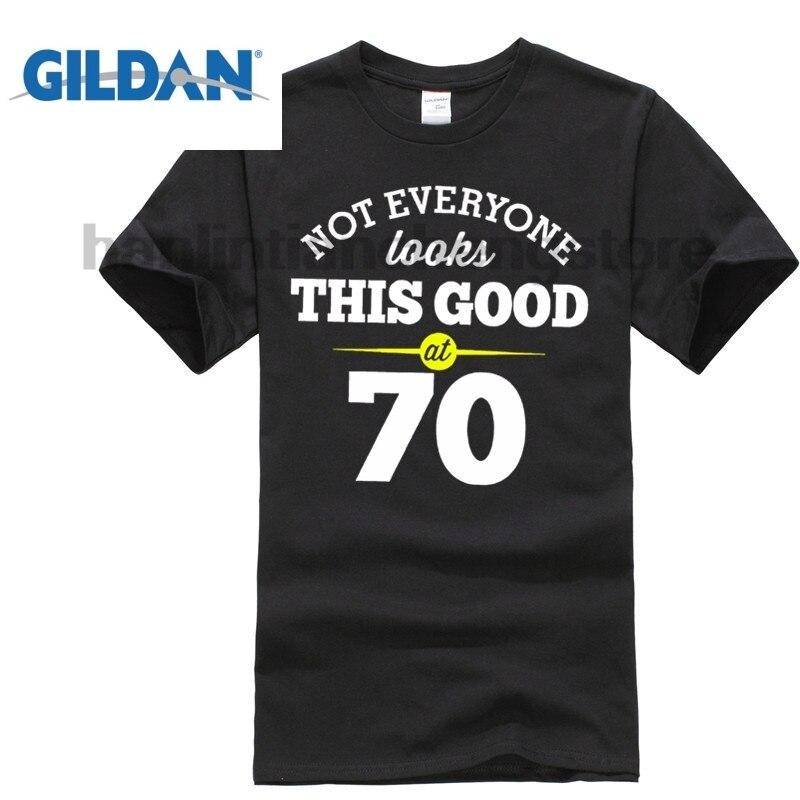 GILDAN 70th Birthday Gift Present Idea For Boys Dad Him Men T Shirt 70 Tee Shirts Fashion Short Sleeve Sale 100 Cotton