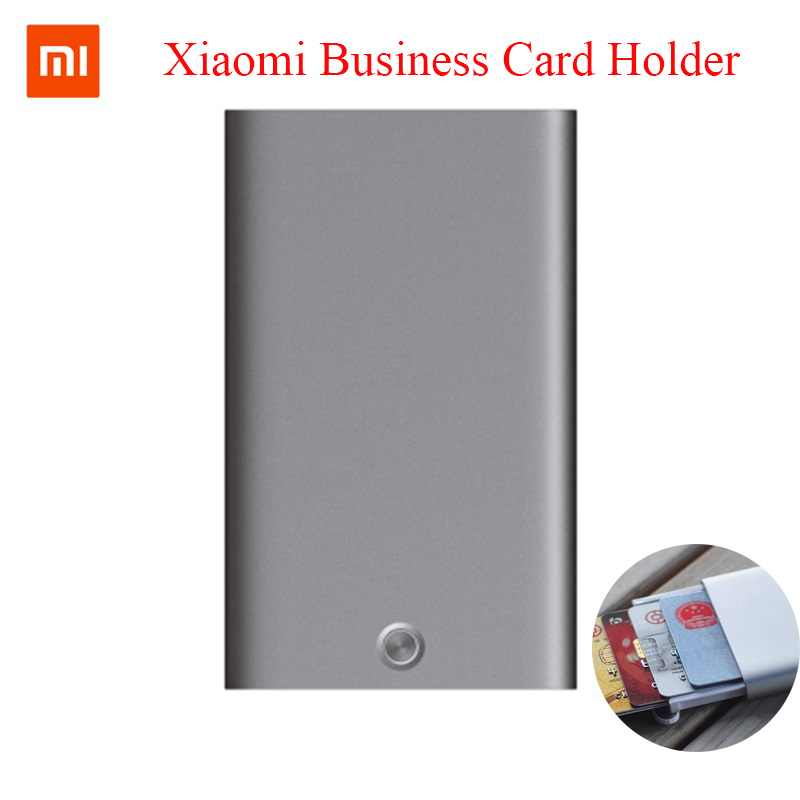 Xiaomi MIIIW Card Case Automatic Pop Up Box Cover Card Holder Mijia Metal Wallet ID Portable Storage Bank Card Credit Card 5