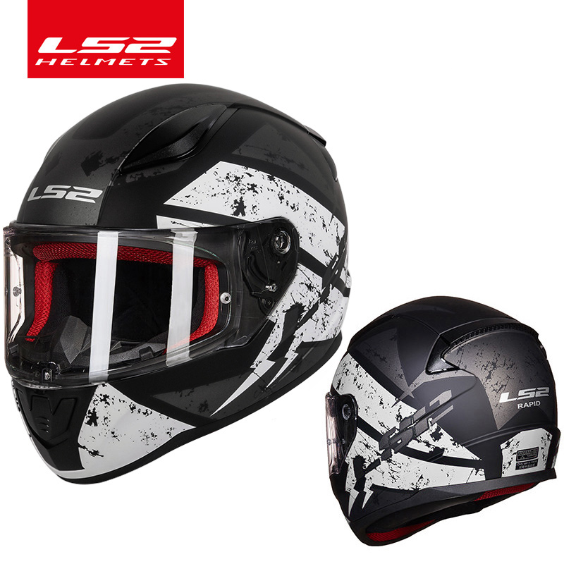 Image 2 - LS2 FF353 alex barros full face motorcycle helmet ABS safe structure casque moto capacete LS2 Rapid street racing helmets ECE-in Helmets from Automobiles & Motorcycles
