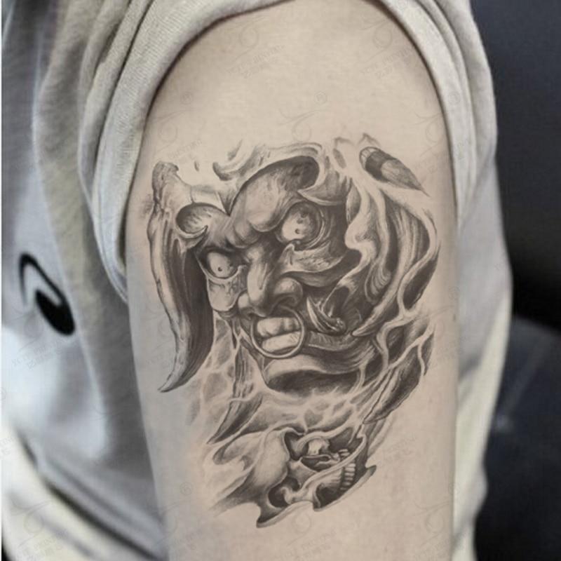 Large arm temporary tattoo praj hannya monster tattoo for Temporary arm tattoos