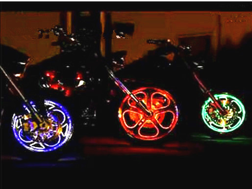 Free Shipping Hot Wheels Modified Motorcycle Tires LED Lights Light Valve With A Wireless Power Supply Module In Other Electronic Components From