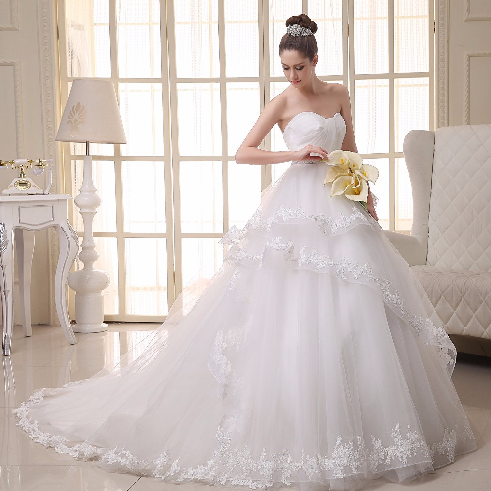 2016 Top Fashion Natural Beading Vestidos De Noiva Luxury
