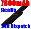 7800 mah batería para asus x54h x53u x53s x53sv x84 x54 x43 a43 A53 K43 K53E K53S K53SV k53J K53U K53T A53S K53 A32-K53 A42-K53