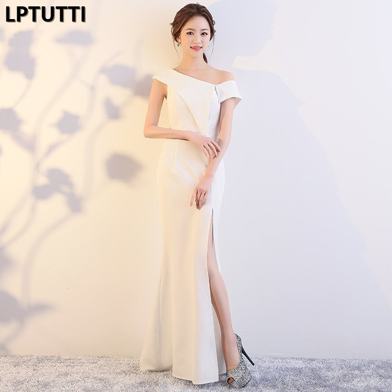 LPTUTTI Chiffon Split Gratuating New For Women Elegant Date Ceremony Party Prom Gown Formal Gala Luxury