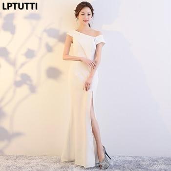 7f68c04dc LPTUTTI División Chiffon Gratuating nuevo para las mujeres elegante fecha  ceremonia fiesta vestido de Gala Formal