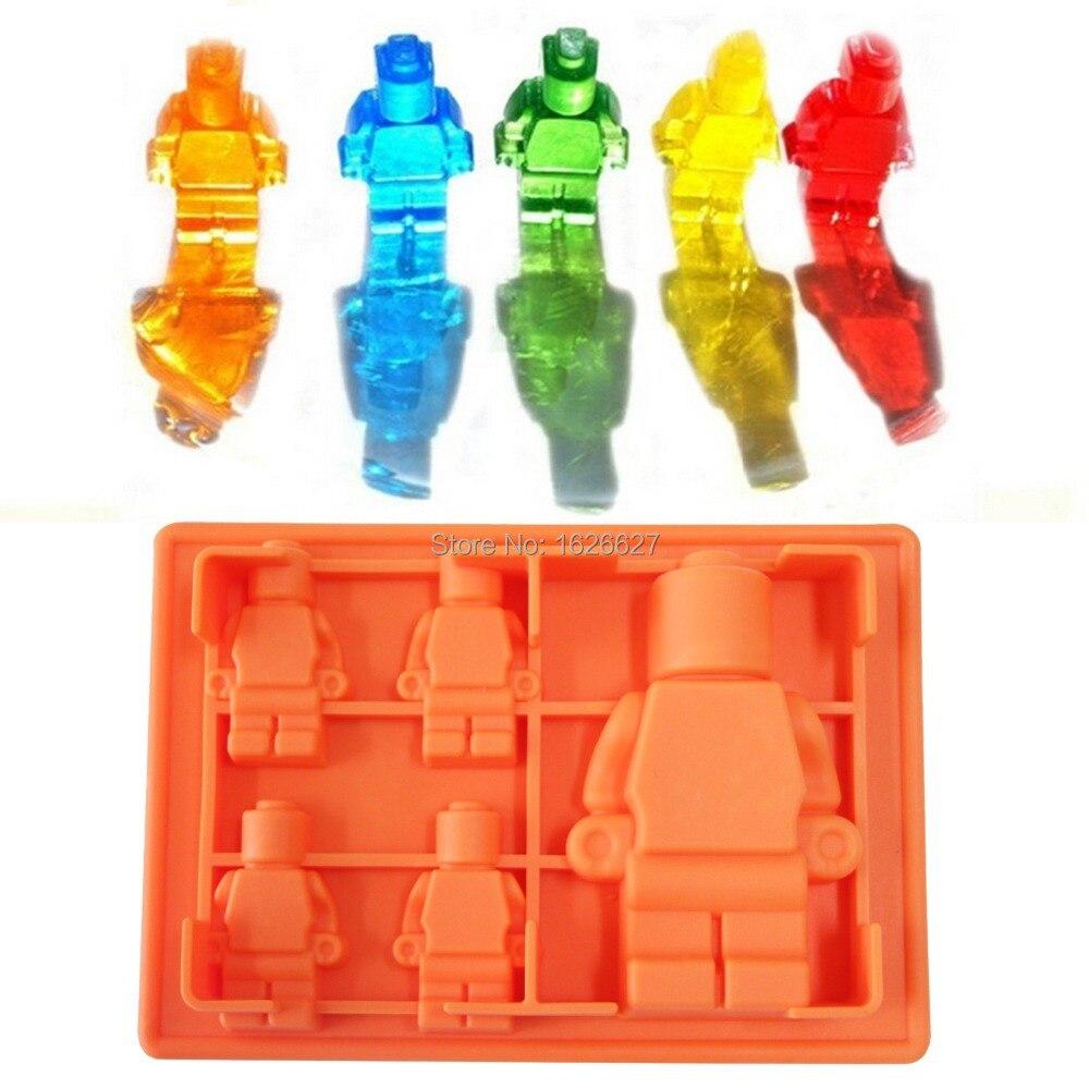 Silicone Lego Mold 5x Silicone Robot Silicone Ice Mold
