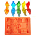Silicone Lego Mold 5x Silicone Robot Silicone Ice Mold Building Blocks Shaped Molds de Silicona Cocina Chocolate Molds