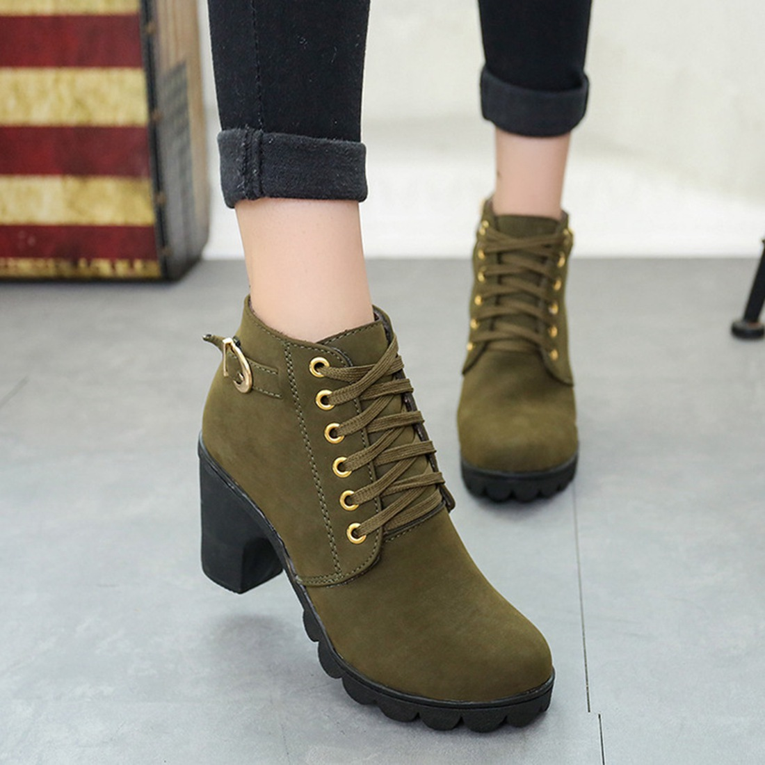ankle women Boots winter snow boots High Quality solid lace-up ladies PU fashion shoes Knight Martin Retro Korean short boots only true love high quality women boots winter snow boots