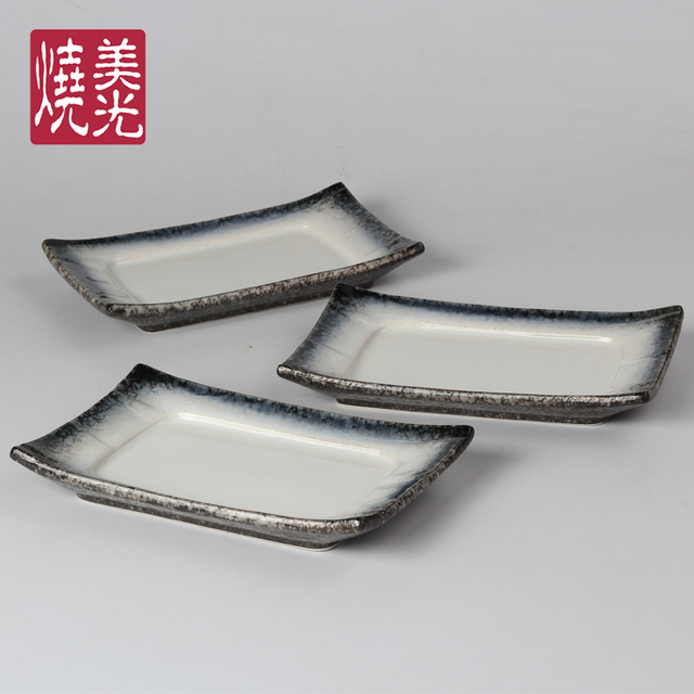 Ceramic tableware rectangular plate square plate sushi plate sashimi dishes Japanese and Korean cuisine dish porcelain : japanese square plates - Pezcame.Com