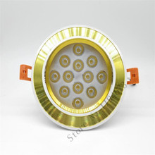 Free Shipping High Power CE&ROHS 3 Years Warranty 12*1W warm white cool AC85-265V Recessed LED Downlight