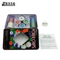 K8356 High Quality Casino Set Texas Poker Chips 100 Pieces Game Tokens Fine Plastic Chips 1