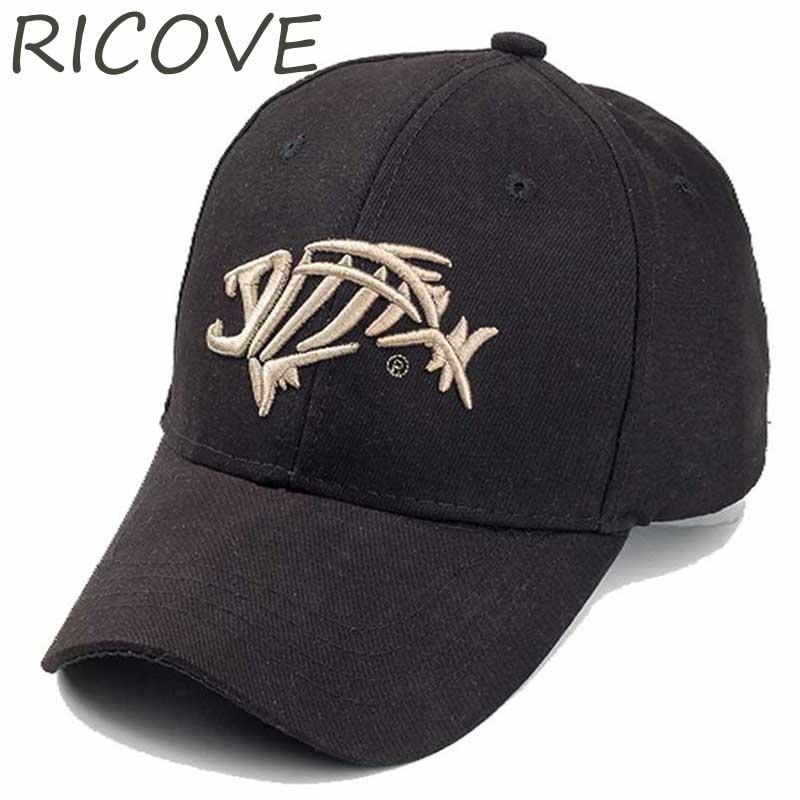 Trucker Cap Men Dad Hat Fish Snapback Baseball Caps Summer Designer Black For Women Adjustable Unisex 3D Embroidery Hip Hop Hats