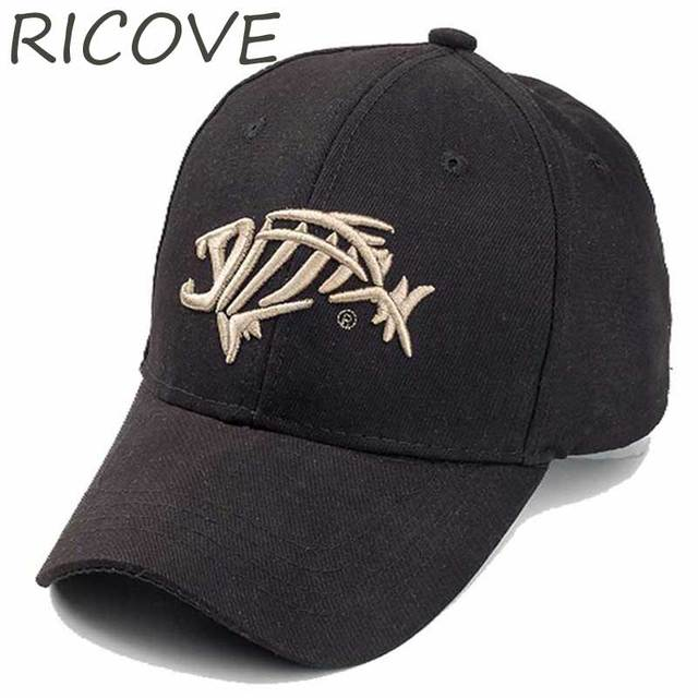 Trucker Cap Men Dad Hat Fish Snapback Baseball Caps Summer Designer Black  For Women Adjustable Unisex 3D Embroidery Hip Hop Hats c9a9ce4398e