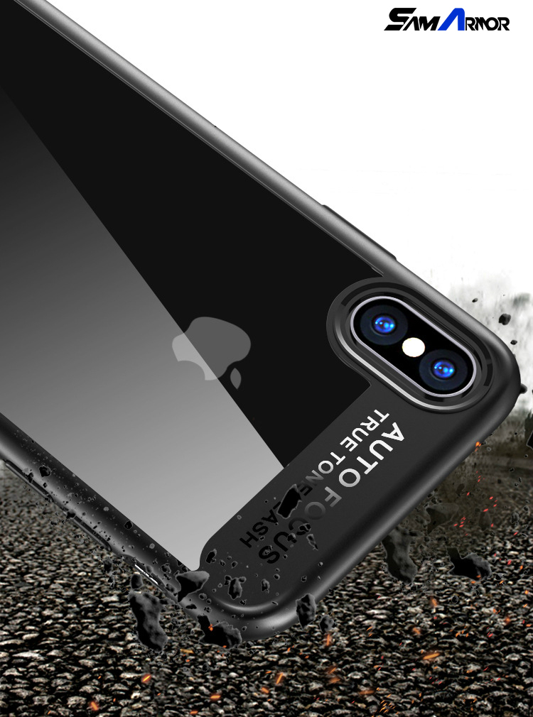 Soft Silicone Transparent Hard Back Cover Case for Apple iPhone X Cases Coque for iPhone X 6 6S 7 8 Plus Phone Case