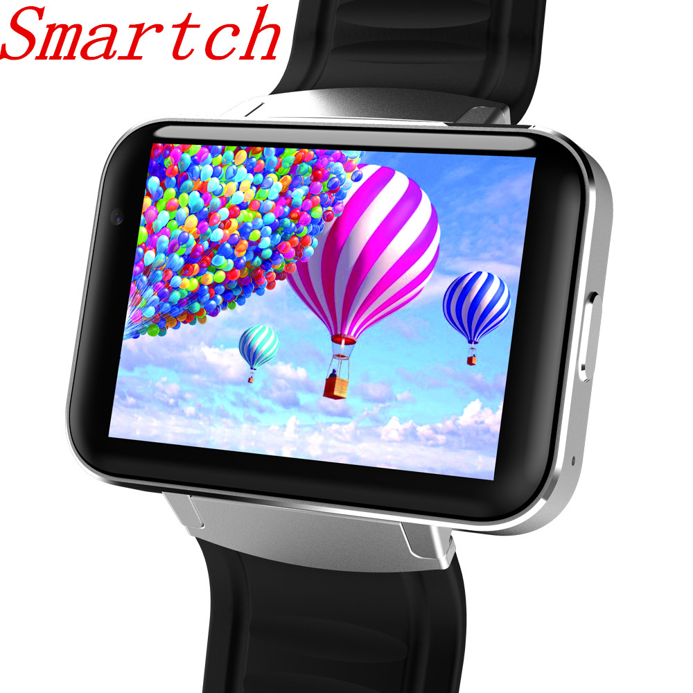 Smartch DM98 Montre Smart Watch Android Grand Écran 320*240 MTK Double Core 1.2G 900 mAh avec WIFI 3G GPS Smartwatch Pour Android IOS