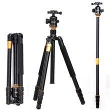 Paquete de viaje portátil q-999 pro trípode de cámara RÉFLEX Q999 fotografía digital trípode + Cabeza De La Bola Al Por Mayor envío gratuito