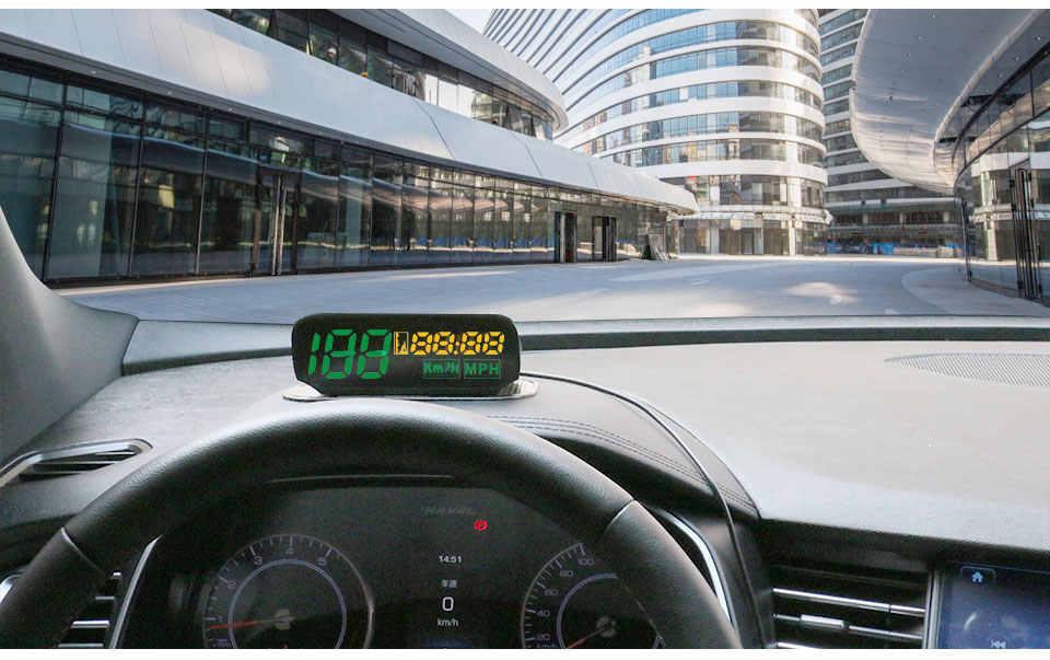 Autool X100 Đa Năng Ô Tô Xe Đầu Lên Màn Hình Ô Tô HUD Đa Năng Thông Minh Đồng Hồ Số Xe GPS Đo Tốc Độ Km/H Dặm/Giờ