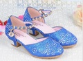 Hot Girls Heel Shoes Spring Bowtie Sandals 2016 New Children Shoes High Heels Princess Bow Sweet Sandals Beaded Shoes For Girls