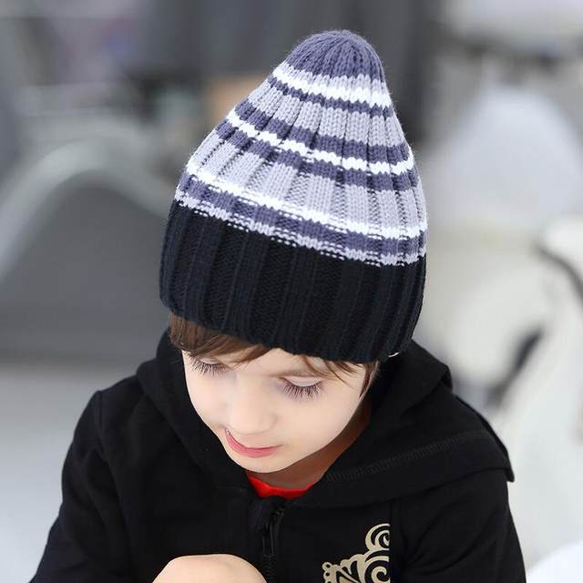 8c7c09e114762 2017 new arrival baby hats child spring bow ear caps sleeve head girls warm  wool knit hat solid color kids beanies accessories