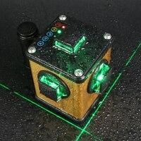 Kaitian зеленый лазерный уровень 3d 12 линий невилиры самовыравнивающиеся с кронштейн штатив для лазерного уровня с функцией приемника автомати