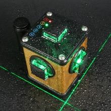 Kaitian зеленый лазерный уровень 3d 12 линий невилиры самовыравнивающиеся с кронштейн штатив для лазерного уровня с функцией приемника автоматический  регулировка нивелир 360 градусов поворотный строительный инструмент