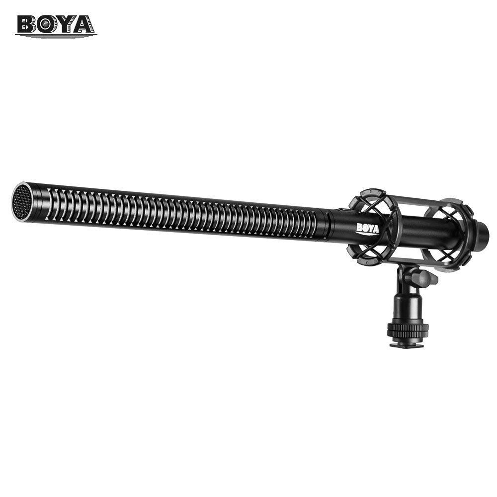 BOYA Professional Condenser Microphone 3 Pin XLR Super Cardioid Directional Mic for Camcorder Video DSLR Smartphone BY PVM1000L