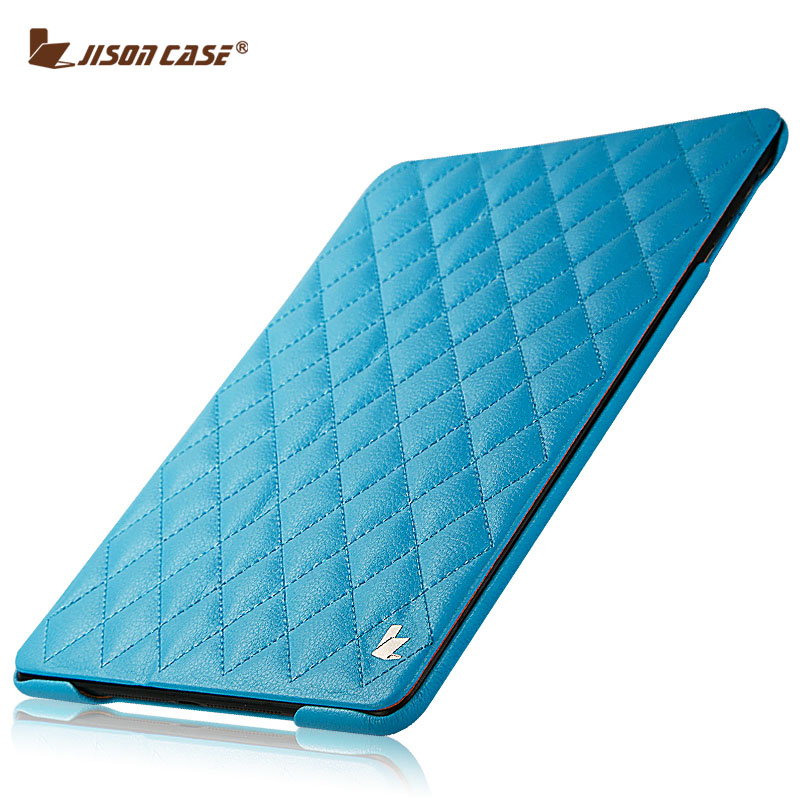 Jisoncase Luxury Faux Leather Case For iPad Air 1 2 Auto Wake up Smart Cover For