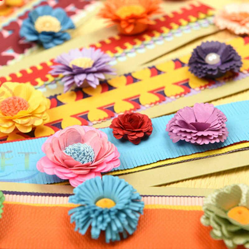 10 PCS/1 กระเป๋าดอกไม้ Quilling กระดาษ DIY แถบที่มีสีสัน Origami DIY กระดาษหัตถกรรม