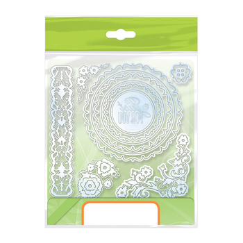 GJCrafts Just for You Flower Circle Frame Metal Cutting Dies for Scrapbooking DIY Paper Cards Photo Album Decorative Embossing circle