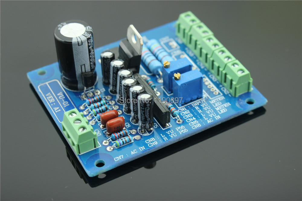 The VU Header Driver Board HiFi Accessories DIY Accessories Speaker Driver IC VU Meter Driver Board 1Piece Free Shipping