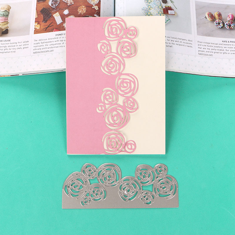 2pcs Hollow Lace Metal Cutting Dies For DIY Scrapbooking Album Paper Card JK