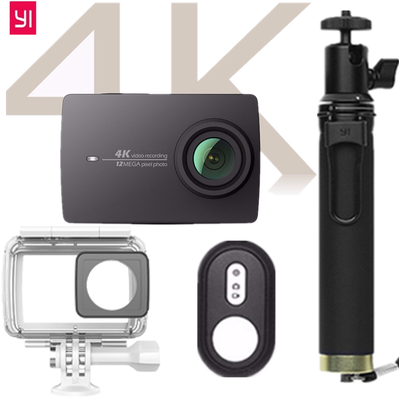 CN Version BiNFUL for Xiaomi YI 4K  Action Camera 2.19Retina Screen XiaoYi 2 WIFI Waterproof Sport DV 12MP Bluetooth yi Camera аксессуар чехол флип samsung sm g530h galaxy grand prime pulsar shellcase black psc0483