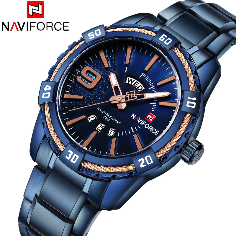 Top Brand Quartz Men Military Sport Watches Mens LED Analog Digital Watch Male Army Stainless Clock Relogio Masculino NAVIFORCE 8