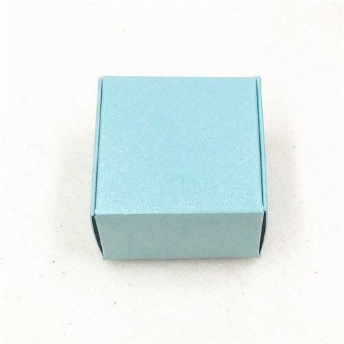 50 шт 4*4*2,5 см самолет коричневый подарочная упаковка крафт-бумага упаковочная коробка ручной работы Любовь Свадьба \ ремесла \ торт \ мыло ручной работы \ коробки для конфет - Цвет: Зеленый