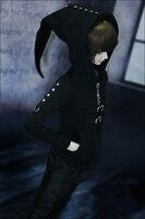 D01 P081 children handmade toy 1/3 1/4 Doll Accessories BJD/SD doll clothes punk witch hat zipper shirt 1pcs