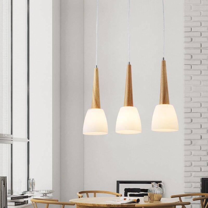 DX Modern Led Pendant Lights Restaurant Lights Wood Lighting Fixture Glass Lamp Nordic Design Luminaire White Warm Luster dx modern led pendant lights wood lighting fixture restaurant lights glass lamp nordic design luminaire white warm luster