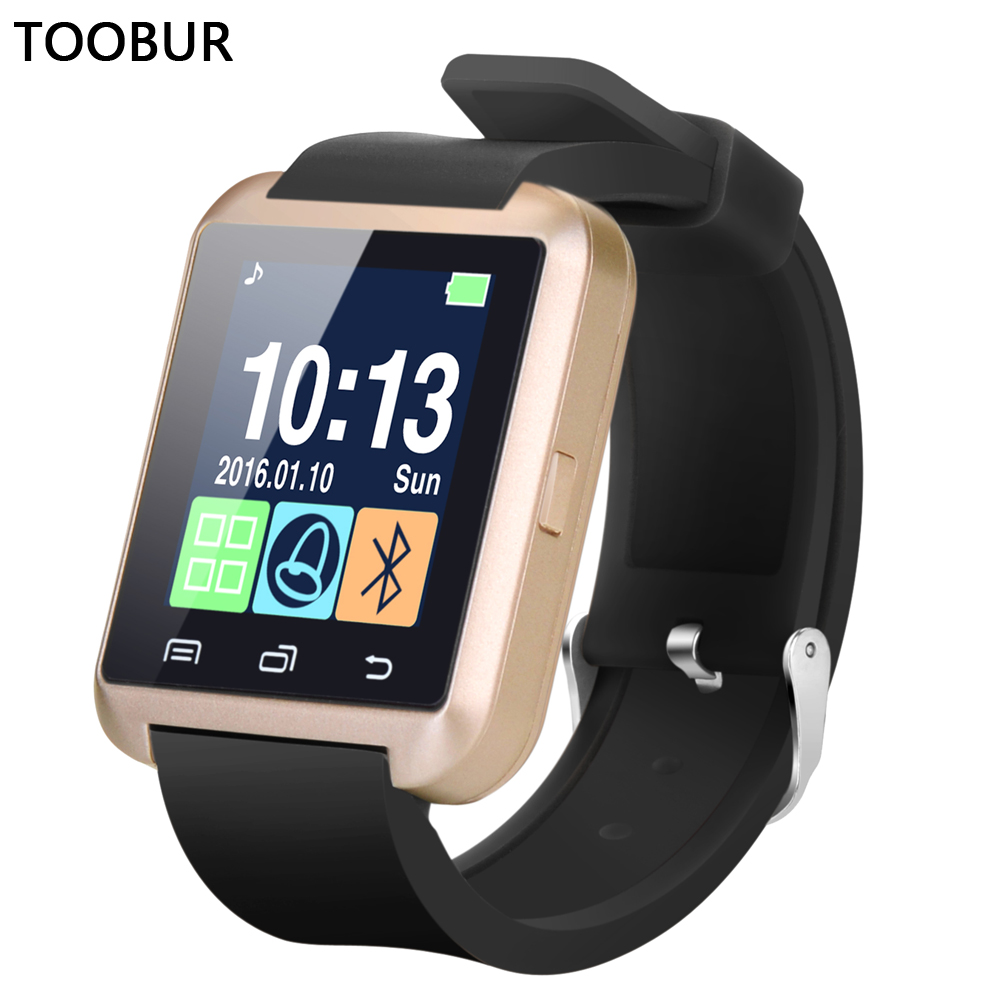 Toobur Bluetooth Smartwatch Wrist Watch Anti-lost Passometer Photograp