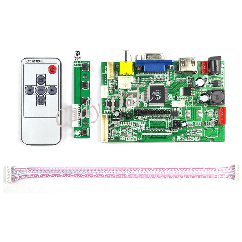 Wholesale 10 Pcs High Brightness HDMI VGA 2AV 30 Pins LVDS PC Controller Board + Remote for Raspberry PI 3 IPS LCD Display Panel