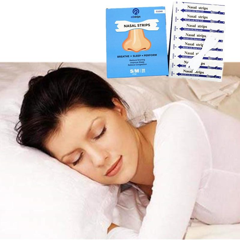 30pcs/box (66x19mm)Breathe Extra Better Sleep Well Stop Snoring Clear Nasal Strips Respira Bene