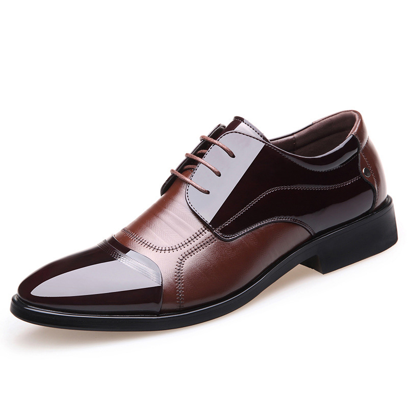 Spring New mens dress shoes Fashion formal shoes Business oxfords Men Shoes Genuine Leather derby shoes Soft Casual Men's Flats