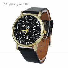 New 2017 relogio feminino fclock hour Fashion ladies girls Luxury Womens Math Symbols Faux Leather Analog Quartz Watches P*21