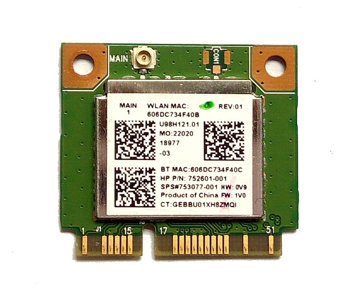 SSEA Wholesale New Wifi Bluetooth 4.0 Half MINI PCI-E Card For Realtek RTL8723BE SPS 753077-001 For Hp 470 455 450 445 440 G2