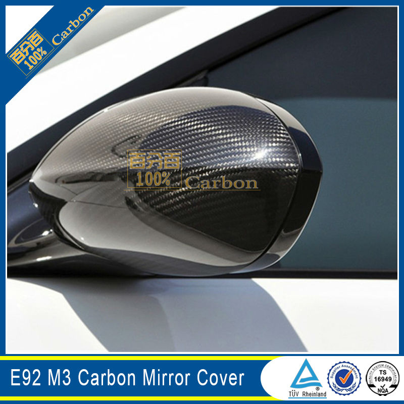 E92 M3 Style carbon fiber Mirror Cover For BMW E92 m3 Style side mirror covers replacement image
