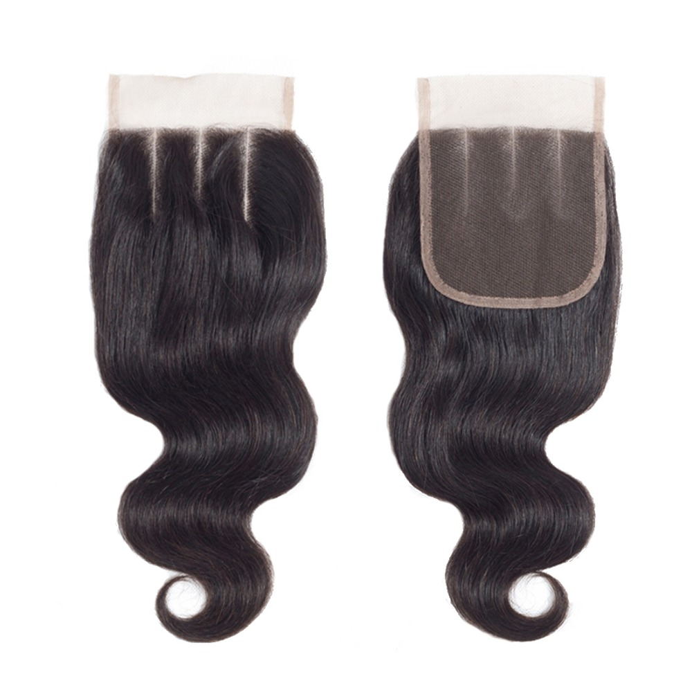 Peruvian Body Wave With Closure 100% Remy Human Hair Bundles With Closure Piaoyi Peruvian Hair Weave 3 Bundles With Closure